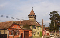 Village of Danes in Romania. View of the village of Danes in Romania royalty free stock image