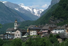 The village of Dangio on Blenio valley Royalty Free Stock Photography