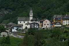 The village of Dangio on Blenio valley Stock Photo