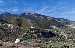 Village dans la montagne Photo stock
