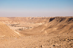 Village dans le désert Image libre de droits
