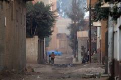 Village dans le delta #1 du Nil image libre de droits