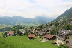 Village dans le Suisse Image stock