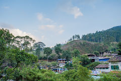 Village dans les montagnes dans Sri Lanka Photographie stock