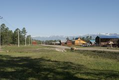 Village dans les montagnes de la Russie Image stock