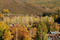 village de baihaba d'automne images stock