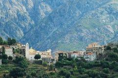 Village de Belgodere dans Balagne, Corse photo stock