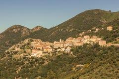 Village de Belgodere dans la région de Balagne de la Corse image libre de droits