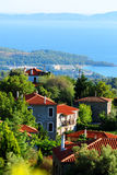 Village de bord de la mer en Grèce Images libres de droits