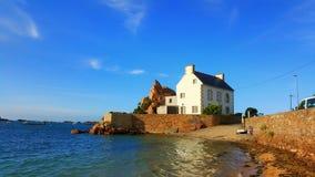 Village de bord de la mer français Images libres de droits