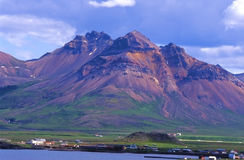 Village de Borgafjordur Eystri, Islande Photographie stock