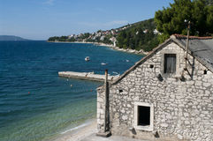 Village de Brist en Croatie Images libres de droits
