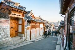 Village de Bukchon Hanok à Séoul, Corée du Sud photo stock