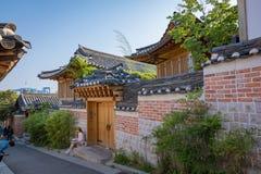 Village de Bukchon Hanok dans la ville de Séoul image libre de droits