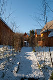 Village de cabine de logarithme naturel Photo libre de droits