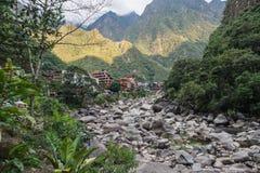 Village de Calientes d'Aguas, près de Machu Picchu photos libres de droits