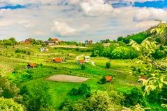 Village de campagne de Zagorje en Croatie Photographie stock libre de droits