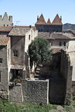 Village de Carcassonne Photographie stock libre de droits
