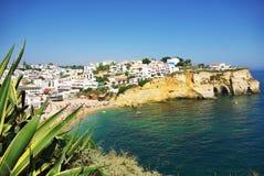 village de carvoeiro de plage Photographie stock