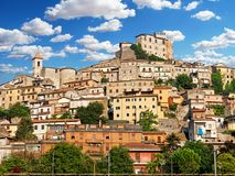 Village de Ceccano Frosinone Italie images stock