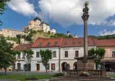 Village de château de Trencin image stock