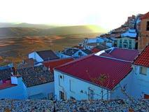 Village de Chiclana De Segura à Jaen Images libres de droits