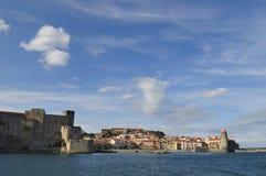 Village de Collioure Photographie stock libre de droits