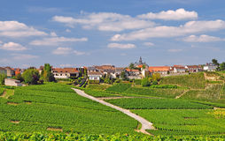 Village de Cramant images stock