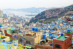 Village de culture de Gamcheon en Corée du Sud photo stock