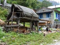 Village de Danakyu, Népal Photo stock