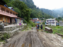 Village de Danakyu, Népal Photos stock