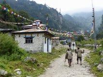 Village de Danakyu, Népal Photographie stock libre de droits