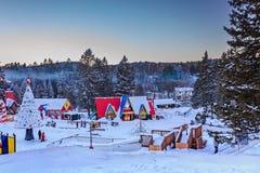 Village de ` de Santa Claus, Val-David, Québec, Canada - 1er janvier 2017 Images stock