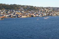 Village de Drøbak en Norvège Image libre de droits