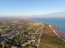 Village de Fairlight, R-U, 10/21/18 - vue aérienne de Fairlight images stock