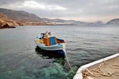 Village de Finiki de la Grèce, île de Karpathos Images stock