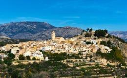 Village de flanc de coteau espagnol pittoresque Polop de la Marina l'espagne Photo stock