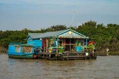 Village de flottement, Cambodge, s?ve de Tonle, ?le de Koh Rong photos libres de droits