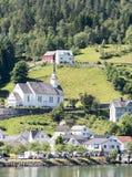 Village de Geiranger au fjord Image stock