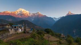 Village de Ghandruk, Népal Images libres de droits