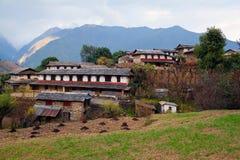 Village de Ghandruk, Népal Image libre de droits