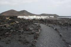 Village de golfo d'EL, Lanzarote, îles de canaria Photo libre de droits