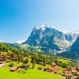 Village de Grindelwald Photo libre de droits