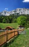 Village de Hintersee dans les Alpes Photographie stock libre de droits