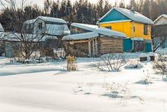 Village de jardin en hiver Image stock