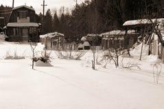 Village de jardin en hiver Images libres de droits