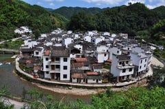 Village de Jujing dans WuYuan Photographie stock libre de droits