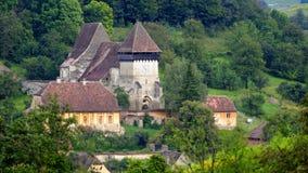 Village de jument de Copsa, la Transylvanie, Roumanie Photos libres de droits
