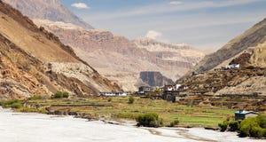 Village de Kagbeni - mustang inférieur - Kali Gandaki images stock