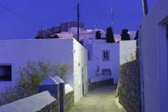 Village de Kastelli sur l'île de Patmos Photo stock